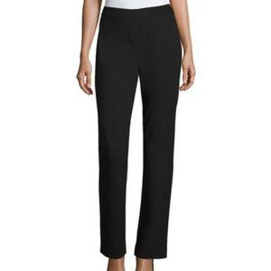 Lafayette 148 Ponte Knit Pull On Pant in Dark Grey